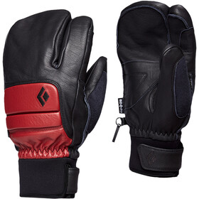 Black Diamond Spark Finger Gloves, dark crimson